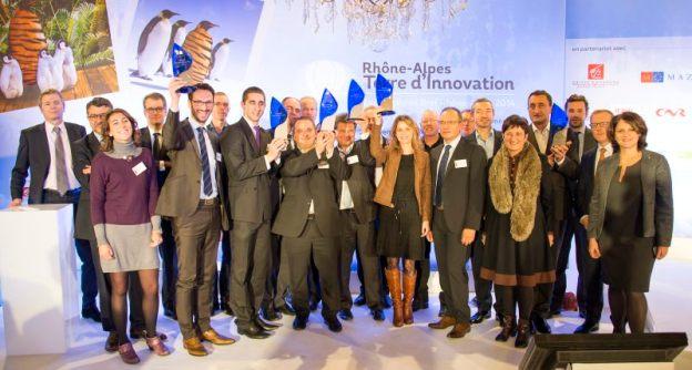 Lauréats et Partenaires Trophées Bref R-A de l'Innovation Lyon 2014