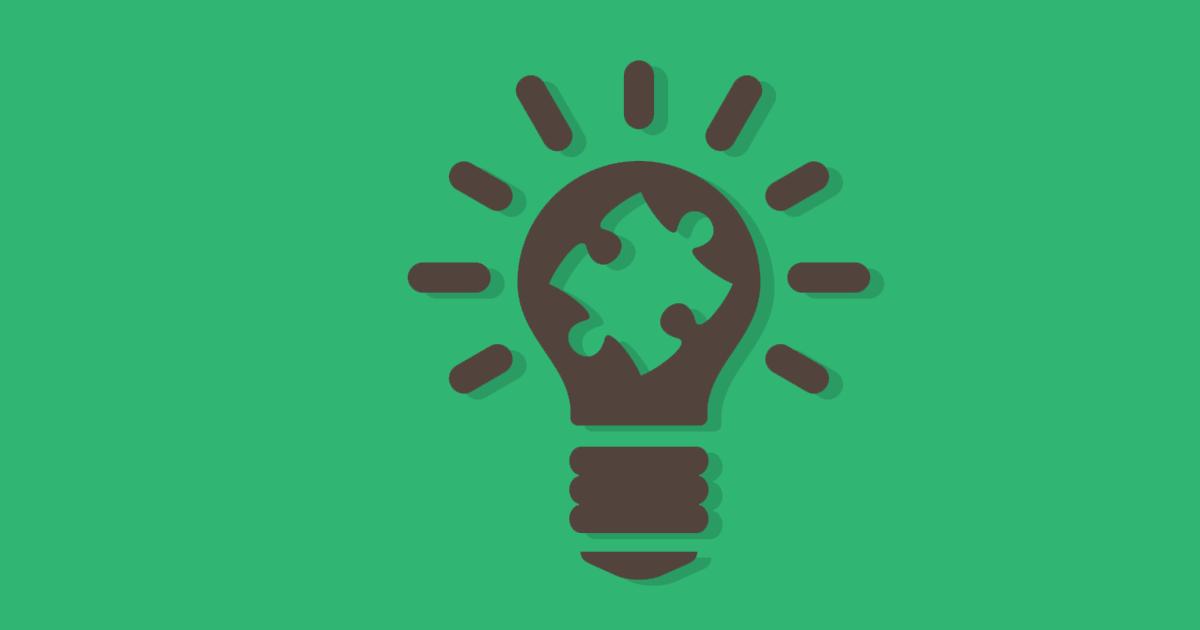 Le content marketing est symbolisé par une pièce de puzzle dans une ampoule